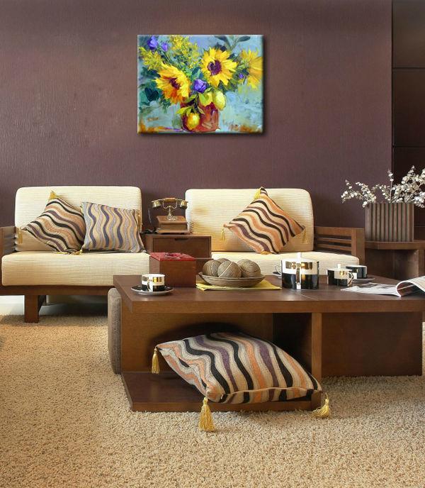 pintura a óleo moderna design para sala de jantar decoraçãoPintura