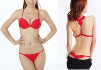 Бюстгальтер Sexy Ladies' Bra Set Underwear Bra &Thong Front Closure Lace Back AB Cup 001