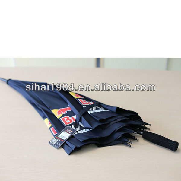 30*8K red bull advertising golf umbrella for gift