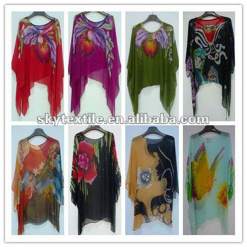 Hand Painted Silk Dresses Hand Painting Silk Chiffon