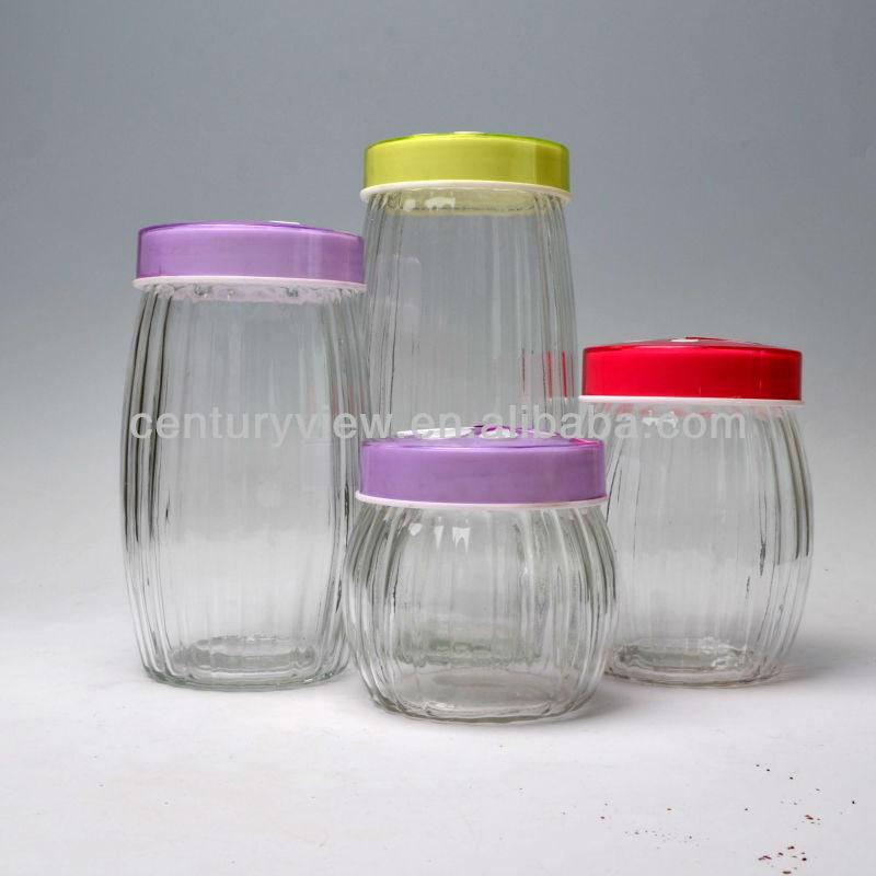 food grade round decorative wholesale glass jars and lids. Black Bedroom Furniture Sets. Home Design Ideas