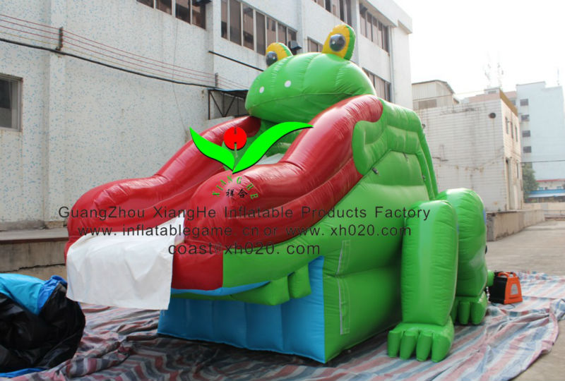 2013 Hot sale commercial grade PVC Tarpaline brand new SL238 inflatable frog slide in stock