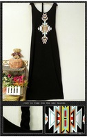 new Women New Styles summer casual national Dragon totem Women cotton Long skirt, lady's cotton dress free shipping AK102