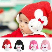 Шапка для мальчиков 1pcs New Baby Toddler Kids Boys Girls Winter Ear Flap Warm Hat Beanie Cap Rabbit H0108