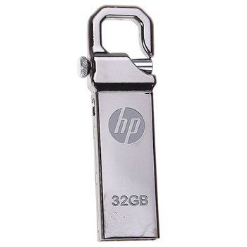 Free Shipping New HP V250W USB2.0 Flash Drive Disk 32GB usb disk Silver Metal Keychain Design