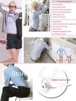Женская футболка summer new patchwork leather plaid career business OL tops body shirt cheap ladies' blouse slim bodysuit shirt QLT11