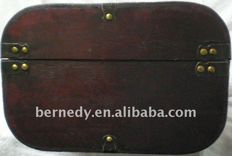 Old Vintage Wooden Luggage Storage Chest