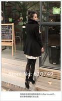 Женская одежда из шерсти Long slim Wool Coat Women Jacket send scarf