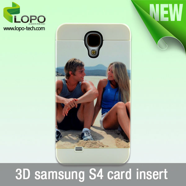 3D sublimation cover for Samsung Galaxy S4 with card insert