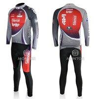Мужская одежда для велоспорта cheap fashion 2011 Lotto long sleeve cycling jersey, long cycling jersey red, cycling wear, cycling jersey and pants
