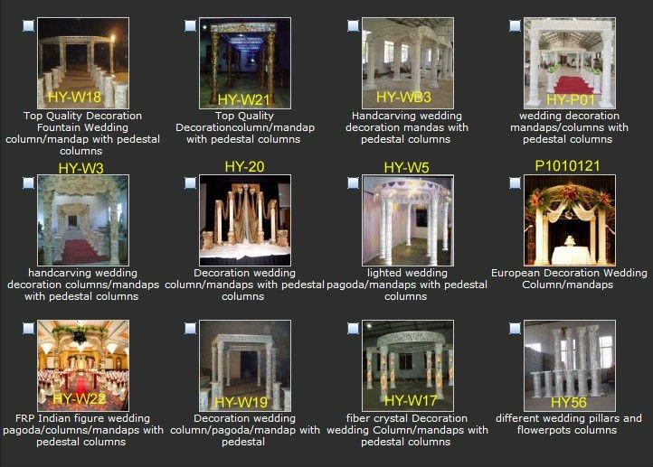 Decoration wedding column pagoda mandap with pedestal Detailed info for