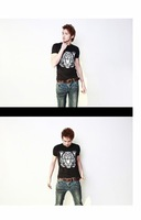 Free Shipping !2012 New Brand.Summer men's short sleeved t-shirt,cotton t shirt, Printing tiger fashion t-shirt