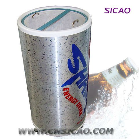 Outdoor promotional party cooler beverage round can fridge