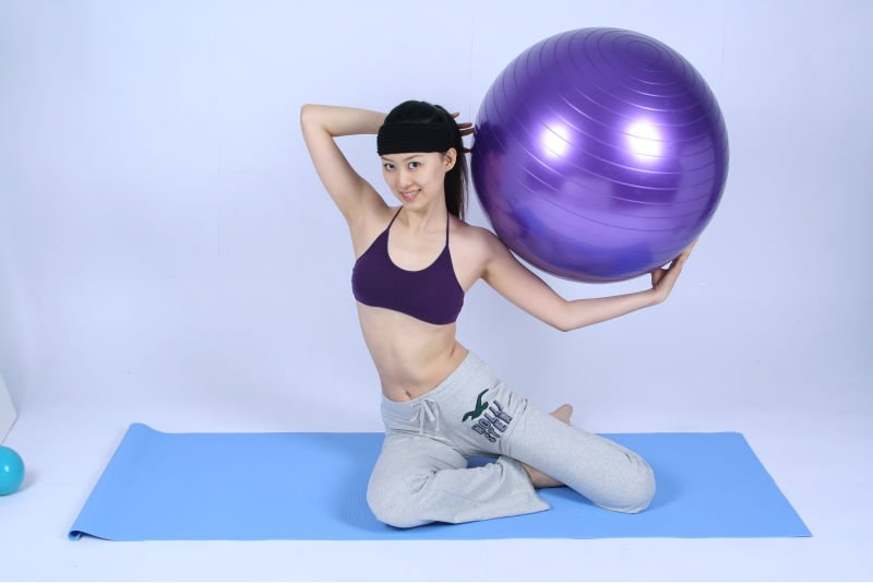 55cm anti-brust PVC Fitness Ball Yoga ball Gym ball with good price