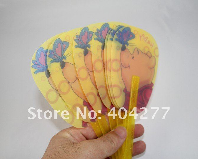 Free shipping,Winnie the pooh Cartoon Cutie Folding Plastic Hand Fan,Length:18cm,7.1inch