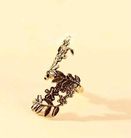 Кольцо 17mm size retro hollow flowers and leaves ring, fashion jewelry J1260
