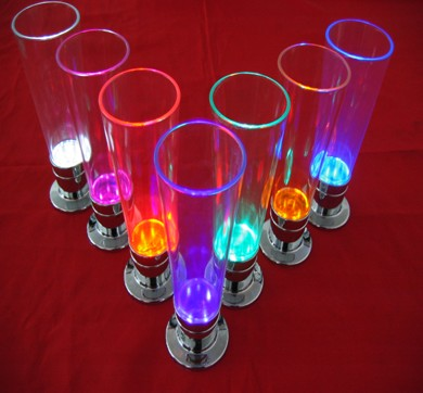 high quality Color Change Flash Light LED Glass For Bar Club Party