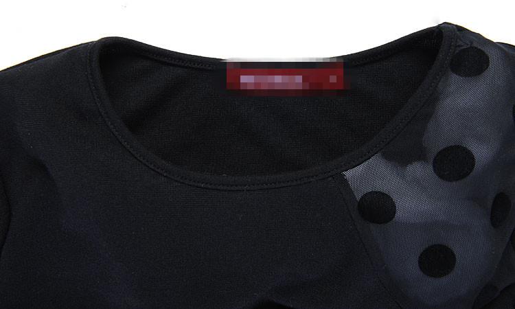 mulheres plus size vestidos baratos nova moda 2014 europeus as fotos do vintage de renda sexy manga longa patchwork na altura do joelho vestido de lápis # 35272416 Produto # 3