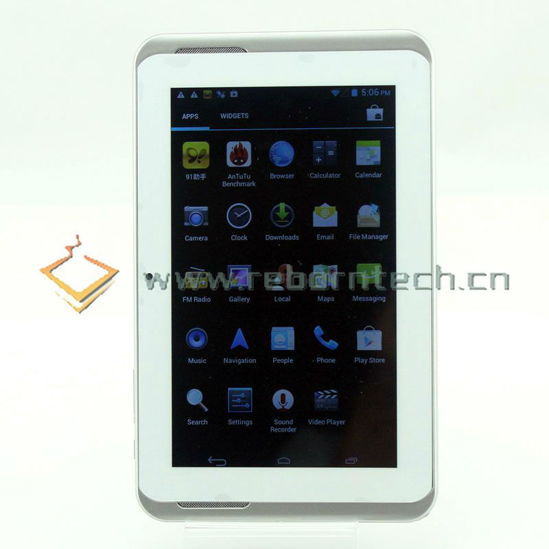 7 inch MTK6572 Tablet PC GPS Bluetooth 3G WCDMA CY-7806