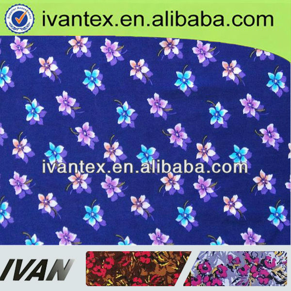 Fashion new design soft knitted weft polyamide viscose/spandex printed fabric