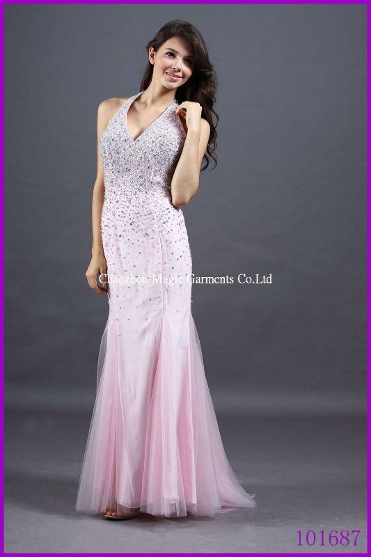 light pink strapless long prom dress « bella forte glass studio