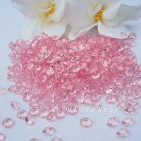 Праздничный атрибут 6.5mm 1CT Pink Diamond Confetti Wedding Decoration