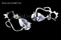 Серьги висячие Simple Design Fashion Lovely Cute hello kitty Stud Earrings silver Jewelry