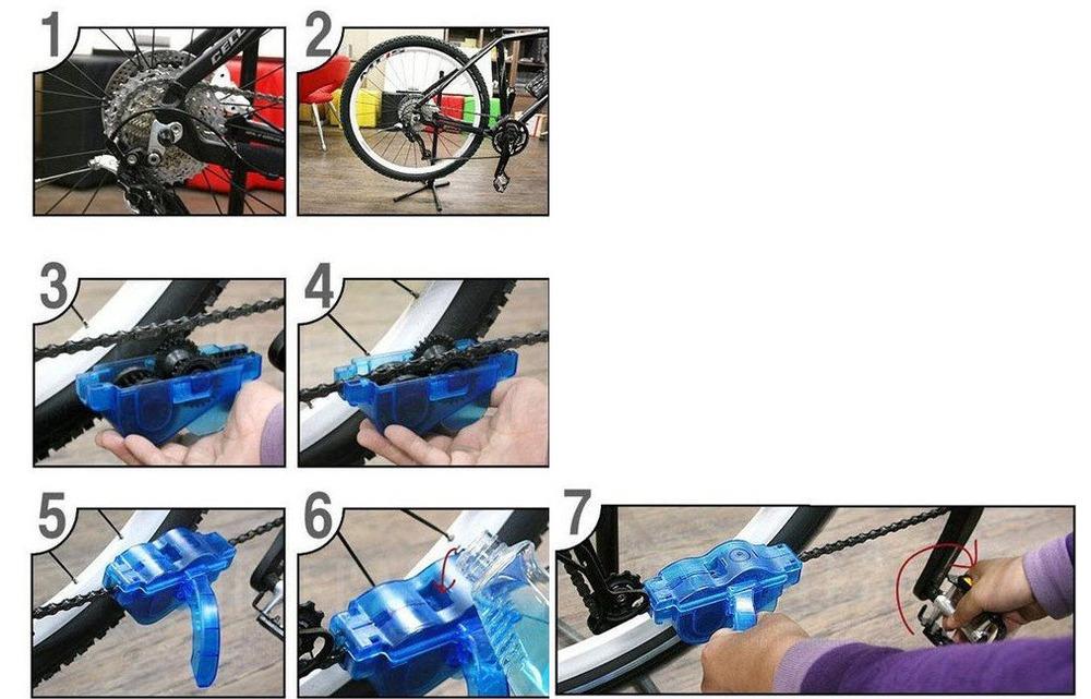 Чистка велосипедной цепи в домашних условиях