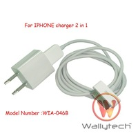 Зарядное устройство Wallytech For iPhone 3GS/4/4S Charger +USB Cable 2in1