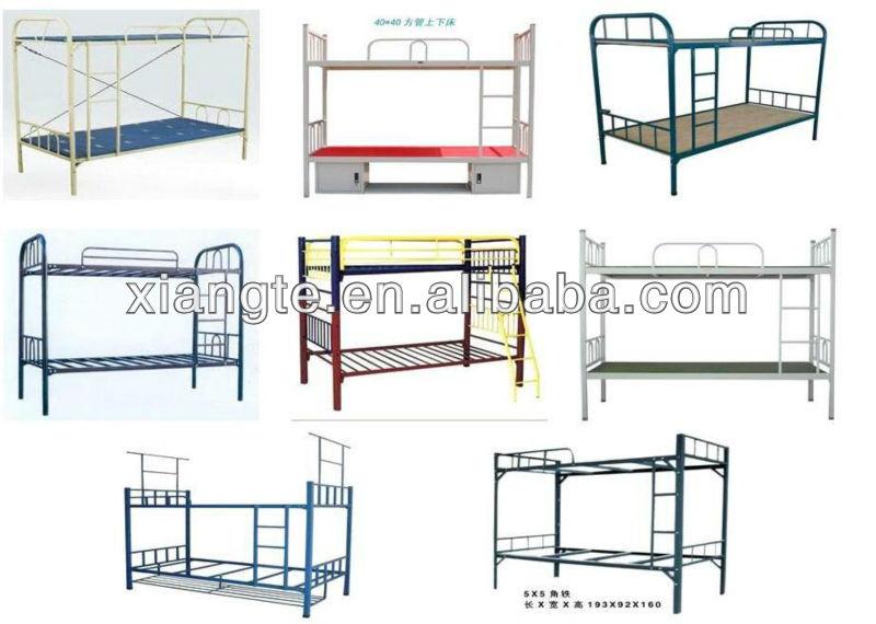 Simple Modern Metal Beds : modern furniture metal double bunk beds / simple design school bunk ...