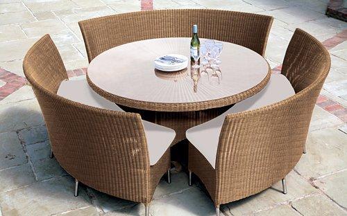 2012 nuevo diseño de gran juegos de comedor, ratán muebles de ...
