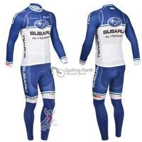 Команда Subaru зиму рукав Джерси на велосипеде + нагрудник штаны велосипед велосипедов тепловой обирал носить pad set + гель