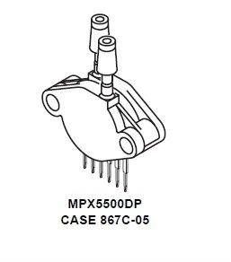 MPX5500DP - SENSOR, PRESSURE GAUGE 75PSI, 867C6