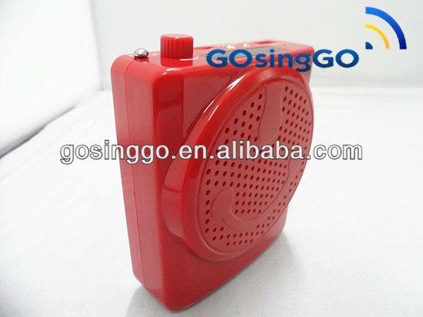 waistband amplifier rechargeable waterproof mp3 speaker