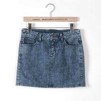 Женская юбка hot sale Women's sexy jean mini skirts denim skirts washed jeans COLOR BLUE SIZE XS S M L XL WA246