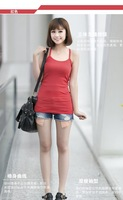 2014 new style women's vest  candy colors  camis ladies' bottoming shirt vest free shipping F062