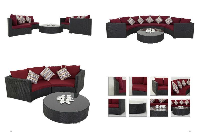 Rattan Patio Furniture Round Sofa