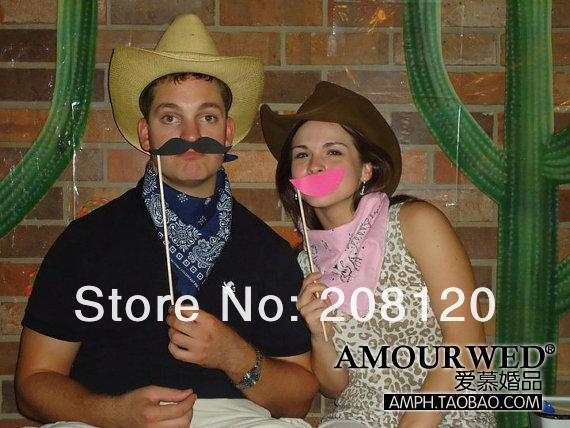 Hot Sale New 49pcs Funny Mask Wedding Party Photography Photo Booth Prop MUSTACHE ON A STICK Free Shipping3.jpg