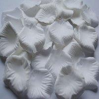 Лепестки роз 1000pc White silk rose petals Wedding Decoration / retail