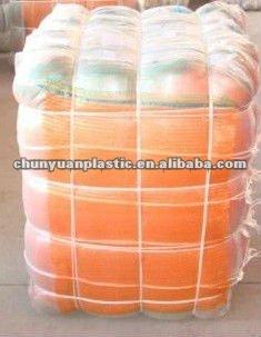 Orange mesh knitted plastic woven bag for vegetable and fruit grade