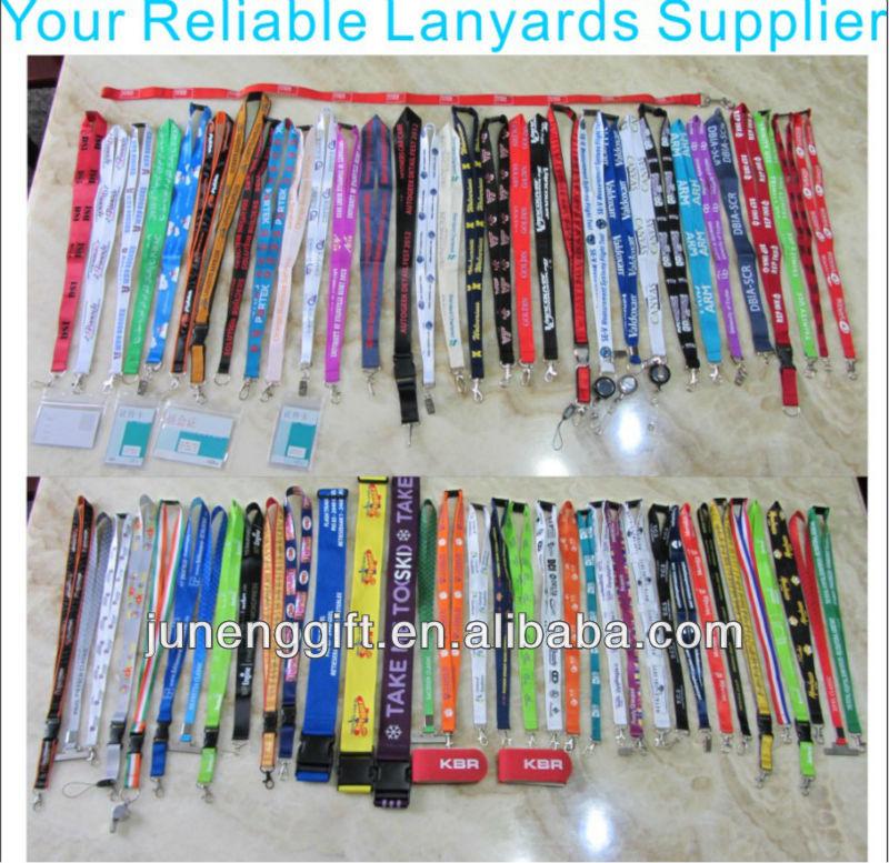 Cheap personalized lanyards nylon printed