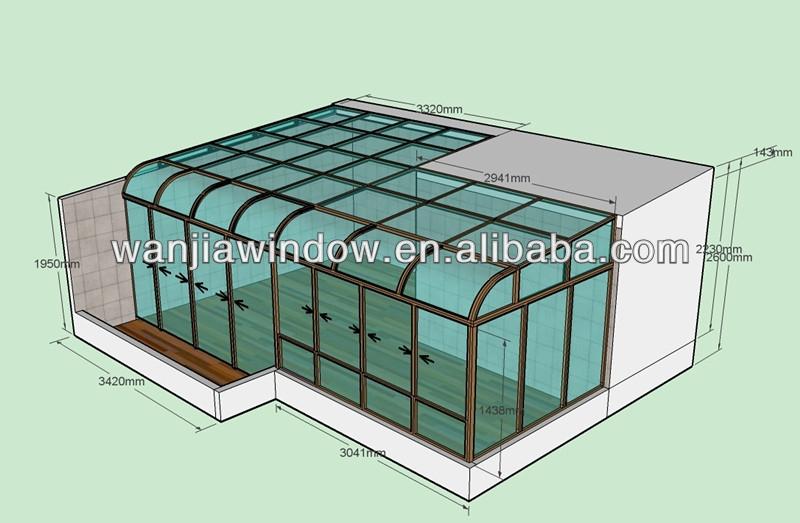 Wanjia usine gros plein air salle de verre maisons for Anodisation maison