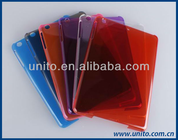 crystal PC back cover case ,for iPad mini case