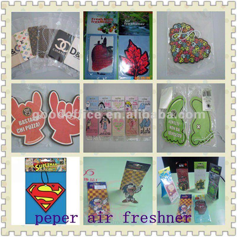 Hot sale good quanlity room air freshener/scent paper