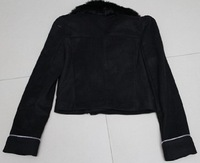 Fashion Korean Hoodies Short Edition Style Woolen Fur Collar Coat Outwear CA1124 [23641|99|01]
