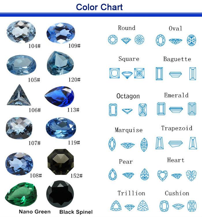 blue spinel gemstones hexagon shape gemstone buy