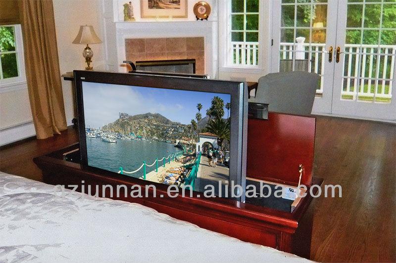 Designed for bed furniture 360 degrees swivel hidden table for Tv in furniture hidden