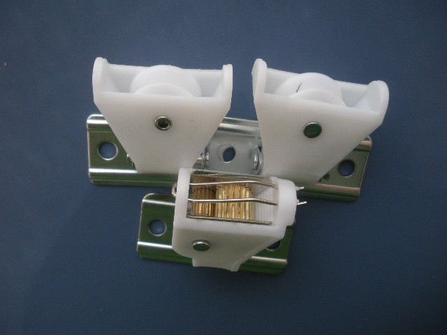 White Color Cord Lock And Cord Pulley To Bamboo Blinds