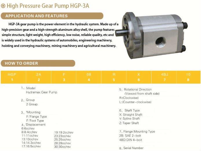 Gear Pump Assembly Gear Pump For 24 Volt