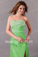 Вечернее платье Grace Karin Women Sexy Fashion Green, Blue, Red Party Long Stunning Strapless Slit Prom Evening Dress 8 Size CL2588